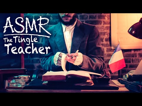 [ASMR] The French Lesson (Old School Teacher Roleplay) 1 HOUR - Soft Spoken