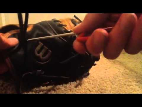 How To Lace The Wrist Of A Catchers Mitt Youtube