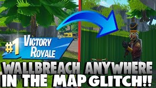 FORTNITE GLITCHES: *EASY* WALLBREACH INTO ANYTHING IN THE MAP GLITCH!! GAMEBREAKING GLITCH! (SEASON5)