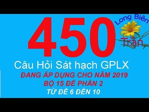 450 câu hỏi thi GPLX B2   15 bộ đề mới nhất 2019   phần 2