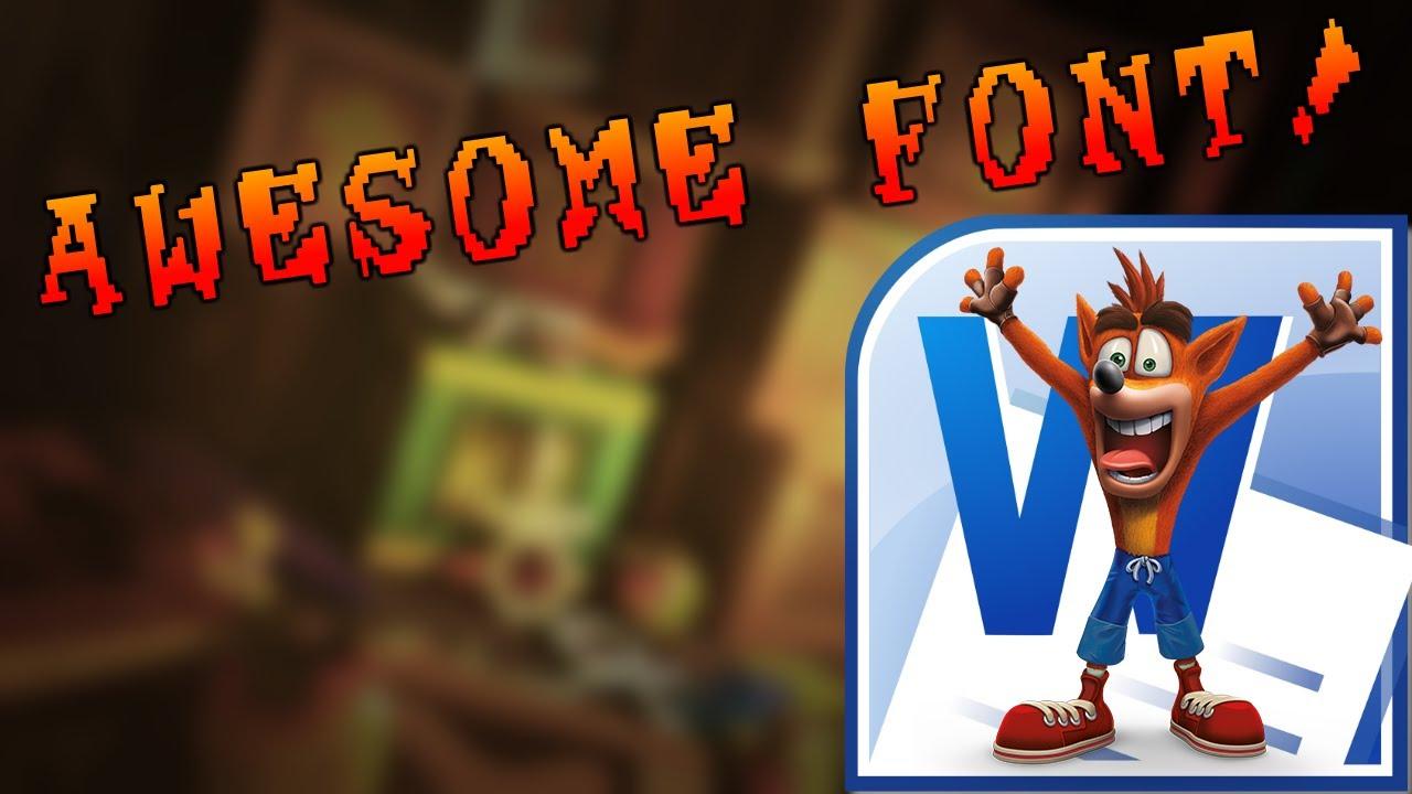 type with crash bandicoot s font youtube