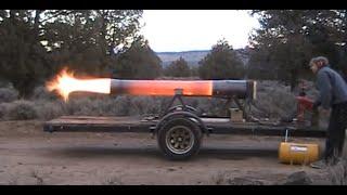 New Rocketman show starting 2017 Super Dragon 300 pound thrust Pulsejet Engine!