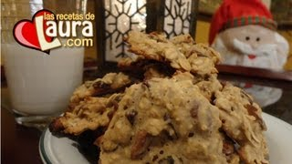 Galletas De Avena Con Pasas Light - Galletas De Navidad - Oatmeal Christmas Cookies
