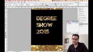 Adobe InDesign: How to Create See Through Text