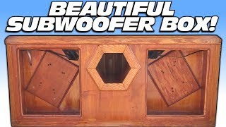 BEAUTIFUL Subwoofer Box w/ ALPINE Type X Subwoofers | Ported BASS Enclosure & 12 inch SUB EXCURSION
