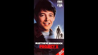 Project X 1987 Movie Trailer Matthew Broderick Helen Hunt