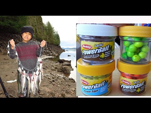 Trout fishing with Powerbait