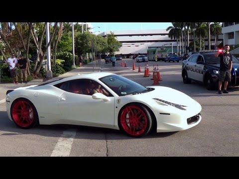 ferrari 2014 white. ferrari 458 italia white supercar engine sound miami dub show 2014 8