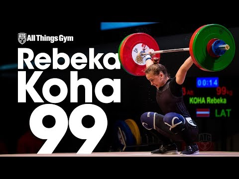Rebeka Koha (58kg, Latvia, 19 y/o) 93, 96, 99kg Snatch 2017 Junior World Championships
