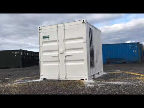 Our Newest Shipping Container Conversion 1no. 10ft Generator Store