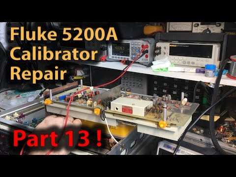 🔴 #341 Fluke 5200A AC Calibrator Repair Part 13 - Power Ampl