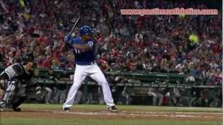 Adrian Beltre Slow Motion Home Run Baseball Swing - Texas Rangers MLB Hit Tips Drills Bat