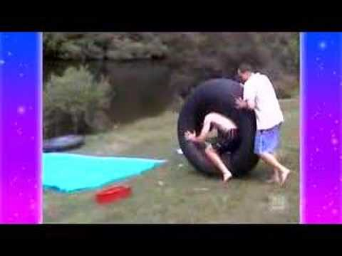 Little Girl Gets Slammed By Inflatable Rubber Ring