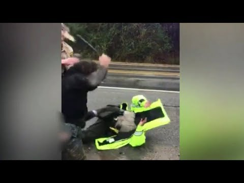 Deuce - Suspect Beats Cops With Their Baton, Then Steals Their Car