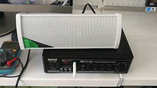 Трансляционный усилитель 100V  Как подключить колонки Как пользоваться