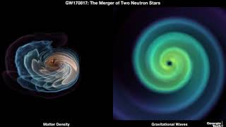 Neutron star merger seen in gravity and matter