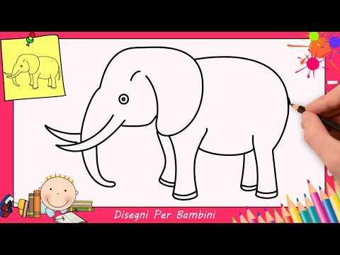 Come Disegnare Un Elefante Facile Passo Per Passo Per Bambini 4