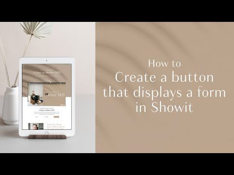 Showit Tutorial: How to create a button that pops up a Flodesk opt-in form