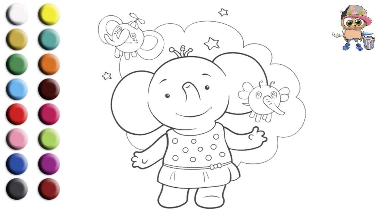 Раскраска для детей ТИМА И ТОМА /СЛОНЕНОК ТОМА. Мультик ...