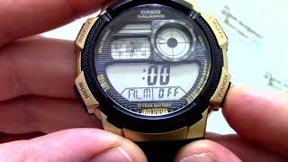 Годинник Casio Illuminator AE-1000W-1A3 - Інструкція, як налаштувати від PresidentWatches.Ru