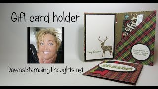 Gift Card Holder using Merry Patterns
