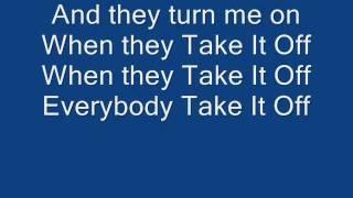 Kesha - Take It Off LYRICS