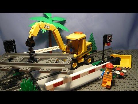 Lego City 7936   Железнодорожный Переезд / Level Crossing
