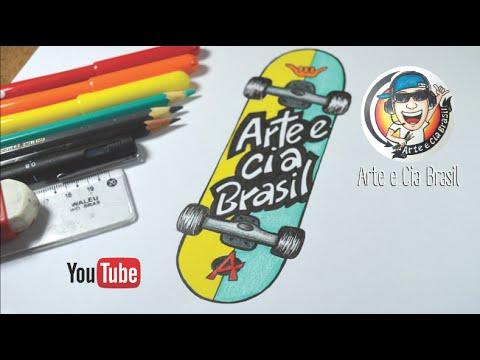 como desenhar skate passo a passo youtube