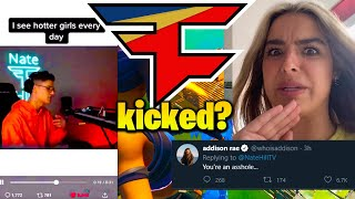 Nate Hill ROASTS Addison Rae then SHE RESPONDS! (Kicked from FaZe Clan?)