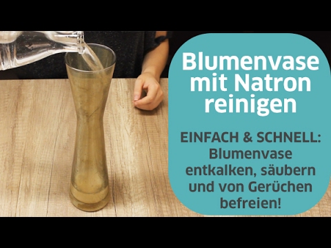 blumenvase reinigen mit natron youtube. Black Bedroom Furniture Sets. Home Design Ideas