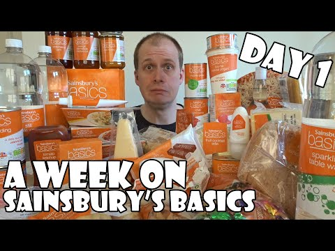 A Week On Sainsbury's Basics DAY 1