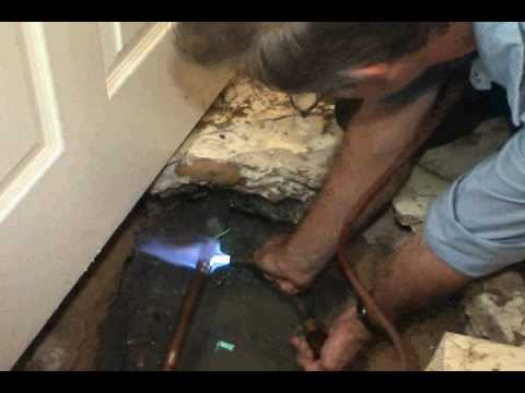 Residential Water Slab Leak Detection  Repair Job  YouTube