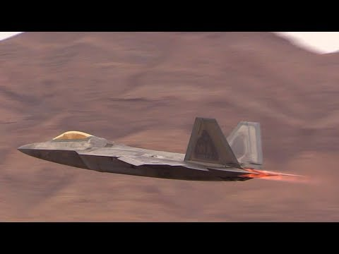 F-22 Raptor Demo & Heritage Flight Nellis AFB Aviation Nation 2017