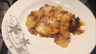 Картофель с фаршем и сыром в духовке