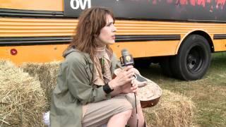 Imogen Heap at V Festival talking to Global Cool