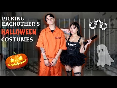 BUYING EACHOTHER'S HALLOWEEN COSTUMES! *HOT* thumbnail
