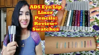 ADS Eye and Lip Liner Pencils: Honest Review and Swatches (Demo)