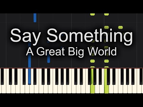 Say Something Piano Cover EASY SLOW