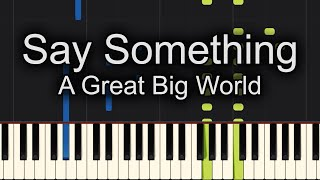 Download Say Something Piano Cover EASY SLOW Mp3 and Videos