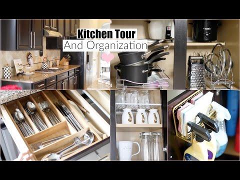 Kitchen Organization Ideas & Kitchen Tour - MissLizHeart