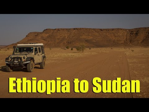 Tense times driving overland from Ethiopia to Sudan (Epic three year Africa circumnavigation! 50/53)