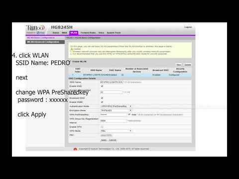 How To Change Wifi Password Globe Broadband Zxhn H108n Globe