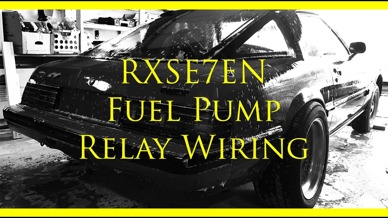 Wiring In A Fuel Pump Relay Fb Mazda Rx 7 Youtube 1993 Schematic