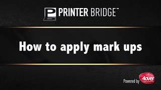 How to apply mark ups