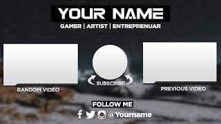[FREE] Epic Outro/Endscreen Template | Photoshop CC (Tutorial)