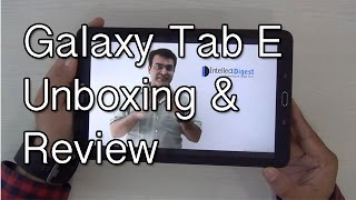Gambar cover Samsung Galaxy Tab E Unboxing And Hands On Review
