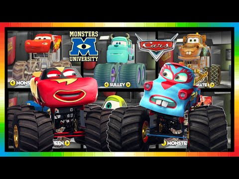 The Cars Choose Different Monster Truck Cars Look Too