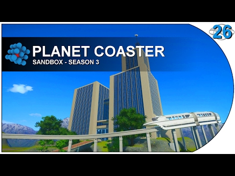 Planet Coaster - S03E26 - Monorail Tower Station