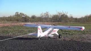 towing gliders with the e flite timber