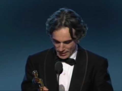 "Daniel Day-Lewis winning an Oscar® for ""There Will Be Blood"""